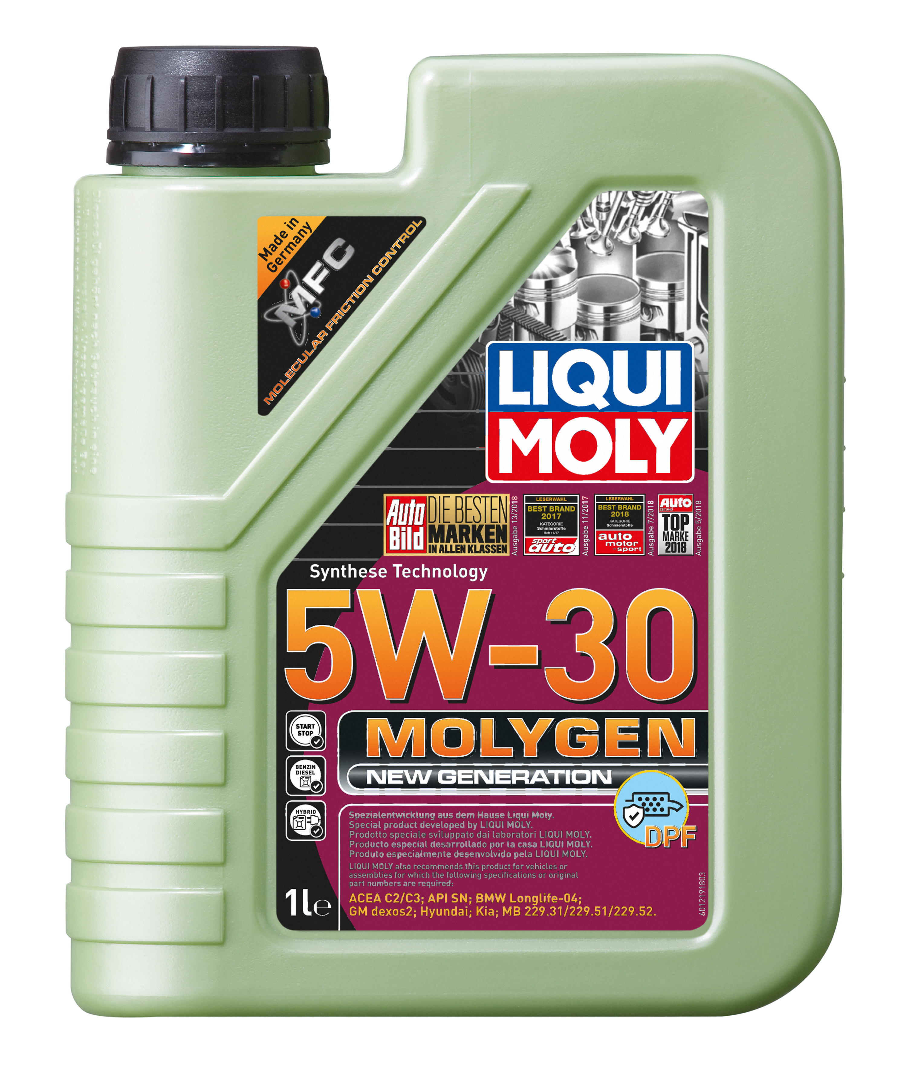 ACEITE MOLYGEN 5W30 DPF New Generation 1L